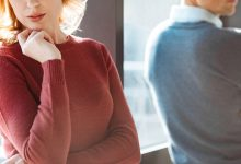 Woman and man with backs turned - are you codependent